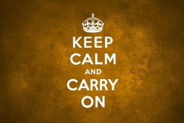 What does the slogan Keep Calm and Carry On really means?