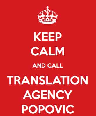 Translation Agency Popovic Keep Calm